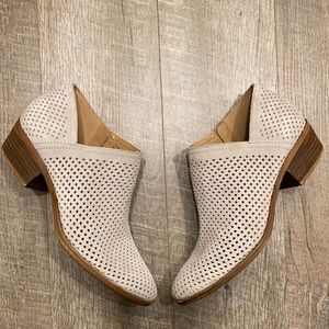 Lucky Brand gray suede perforated bootie 8.5